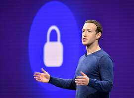 "(FILES) In this file photo taken on May 1, 2018 Facebook CEO Mark Zuckerberg speaks during the annual F8 summit at the San Jose McEnery Convention Center in San Jose, California. - Facebook is working to prevent livestreams of terror attacks such as the one in New Zealand but it does not plan to introduce a delay on live feeds, CEO Mark Zuckerberg said. Zuckerberg, in an interview with ABC's ""Good Morning America"" broadcast on April 4, 2019, also said he had confidence in measures put in place by Facebook to prevent interference in next year's US presidential election. (Photo by JOSH EDELSON / AFP)JOSH EDELSON/AFP/Getty Images"