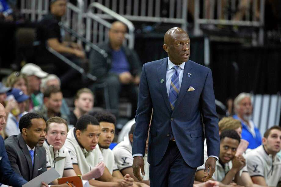 Yale's James Jones coaches his team from the sidelines during the first half against LSU in the NCAA tournament on March 21. Photo: Stephen B. Morton / Associated Press / Copyright 2019 The Associated Press. All rights reserved