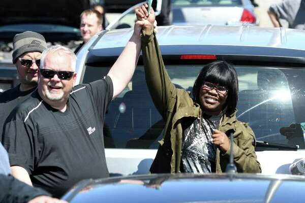 Katrina Strong wins the bidding on an '09 Nissan Altima during the surplus vehicle auctions on Wednesday, April 17, 2019 at the State Office Building Campus in Albany, NY. (Phoebe Sheehan/Times Union)