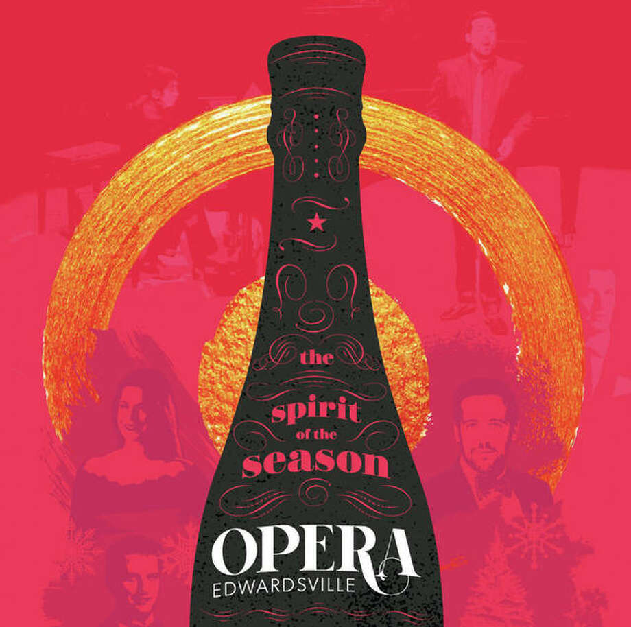 "What better way to christen Opera Edwardsville's maiden voyage than popping open the Champagne? Opera Edwardsville's 2018 commemorative launch poster — designed by Edwardsville design firm Jim Harper Creative — features a striking design of a champagne bottle as a focal piece. Posters are a celebrated fixture of the operatic tradition — with many iconic designs throughout history from top opera houses. This design was particularly fitting at Opera Edwardsville's 2018 December Launch Party & Champagne Reception, where its soloists surprised attendees with a performance of the famous ""Champagne Trio"" from Strauss' Die Fledermaus, for which the main chorus of ""a toast"" received cheers and raised glasses from guests. Without making any promises, Opera Edwardsville founder and Artistic Director Chase Hopkins said this toast seems like a tradition in the making. Photo: Illustration Credit: Opera Edwardsville Graphic Designed By Jim Harper From Edwardsville-based Design Firm 'Jim Harper Creative'"