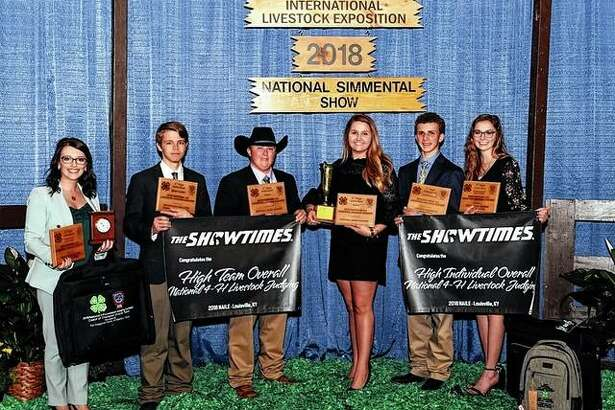 Members of the Illinois 4-H livestock judging team took first place at the National 4-H competition.