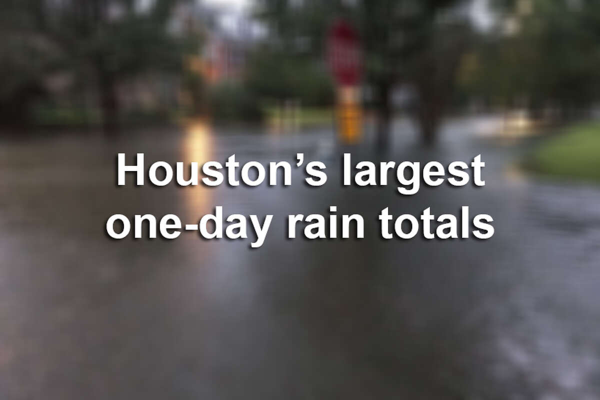 >> Keep clicking through this gallery to see the largest one-day rain totals for Houston in recent history.