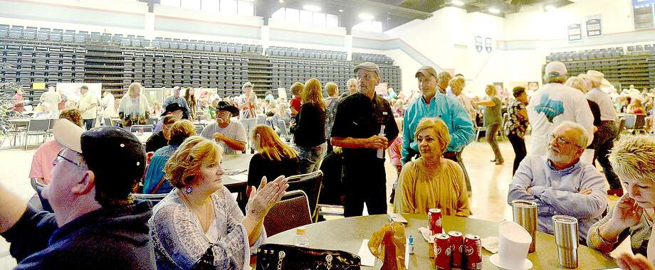 Attendees enjoy as Wayne Toups & Royal BluGarou perform during the Cajun Heritage Festival held at the Carl A. Parker Multipurpose Center in Port Arthur. Plenty of Cajun favorites, including gumbo, boudin, jambalaya and boiled crawfish with sides, were available, and a number of Zydeco and Cajun bands performed.   Photo taken Saturday, April 7, 2018 Kim Brent/The Enterprise Photo: Kim Brent / Beaumont Enterprise / BEN