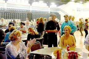 Attendees enjoy as Wayne Toups & Royal BluGarou perform during the Cajun Heritage Festival held at the Carl A. Parker Multipurpose Center in Port Arthur. Plenty of Cajun favorites, including gumbo, boudin, jambalaya and boiled crawfish with sides, were available, and a number of Zydeco and Cajun bands performed. Photo taken Saturday, April 7, 2018 Kim Brent/The Enterprise