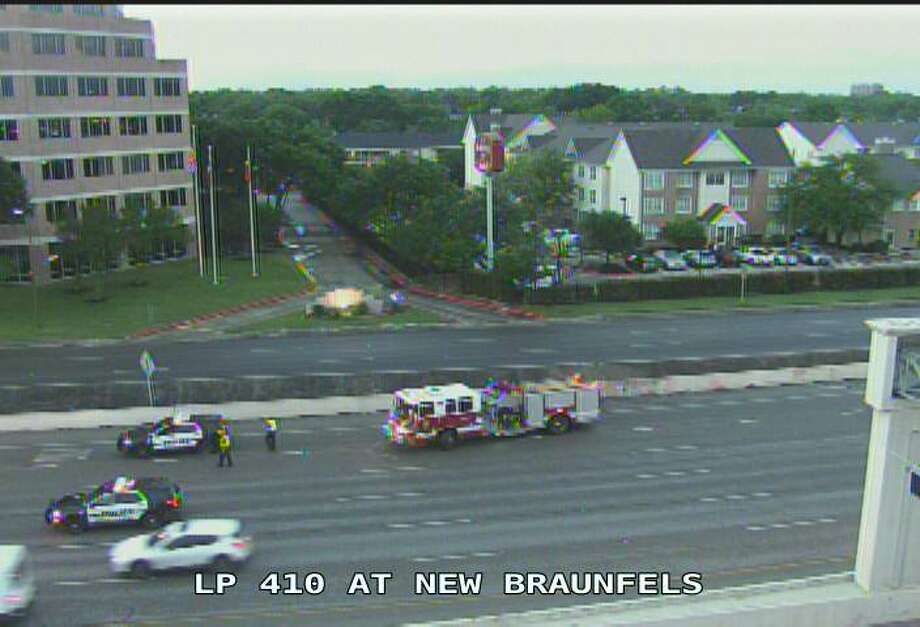 A man was struck by a car on the eastbound lanes of Loop 410 near New Braunfels Avenue, according to police. Photo: Texas Department Of Transportation