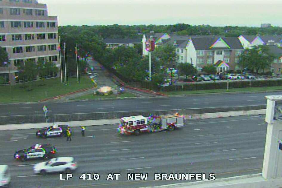 A man was struck by a car on the eastbound lanes of Loop 410 near New Braunfels Avenue, according to police.