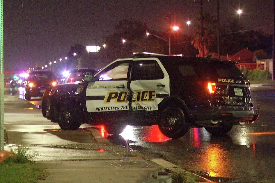 A San Antonio police officer suffered injuries to his head and back after his car was t-boned by an SUV on April 18, 2019.