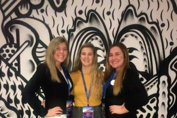 Pictured are Cheyenne Janik, Claire Melnik and Shelby May. (Submitted Photo)