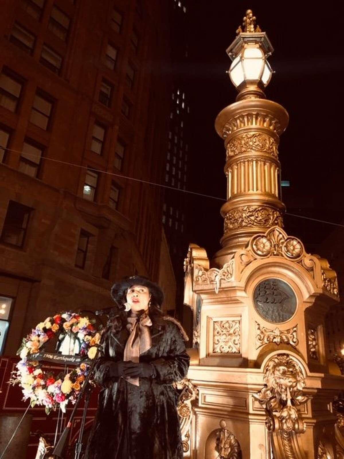 London Breed speaks at Earthquake Commemoration ritual