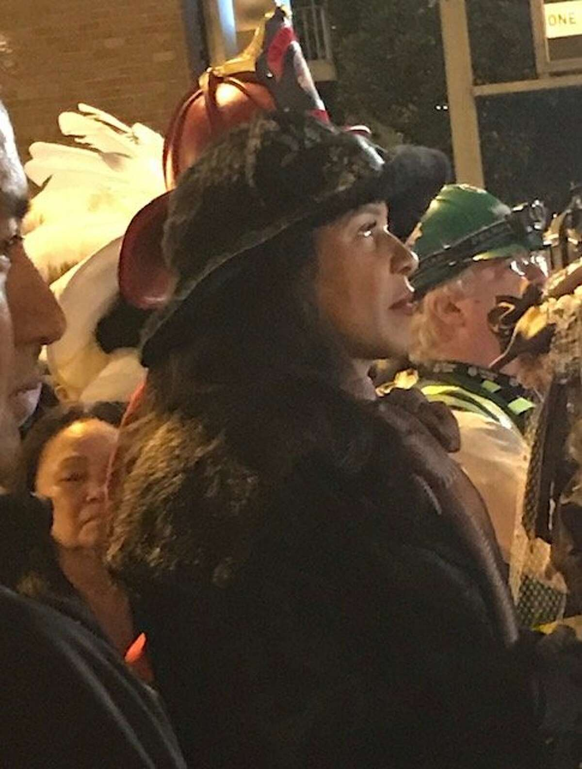 London Breed in crowd at Earthquake Commemoration festivities