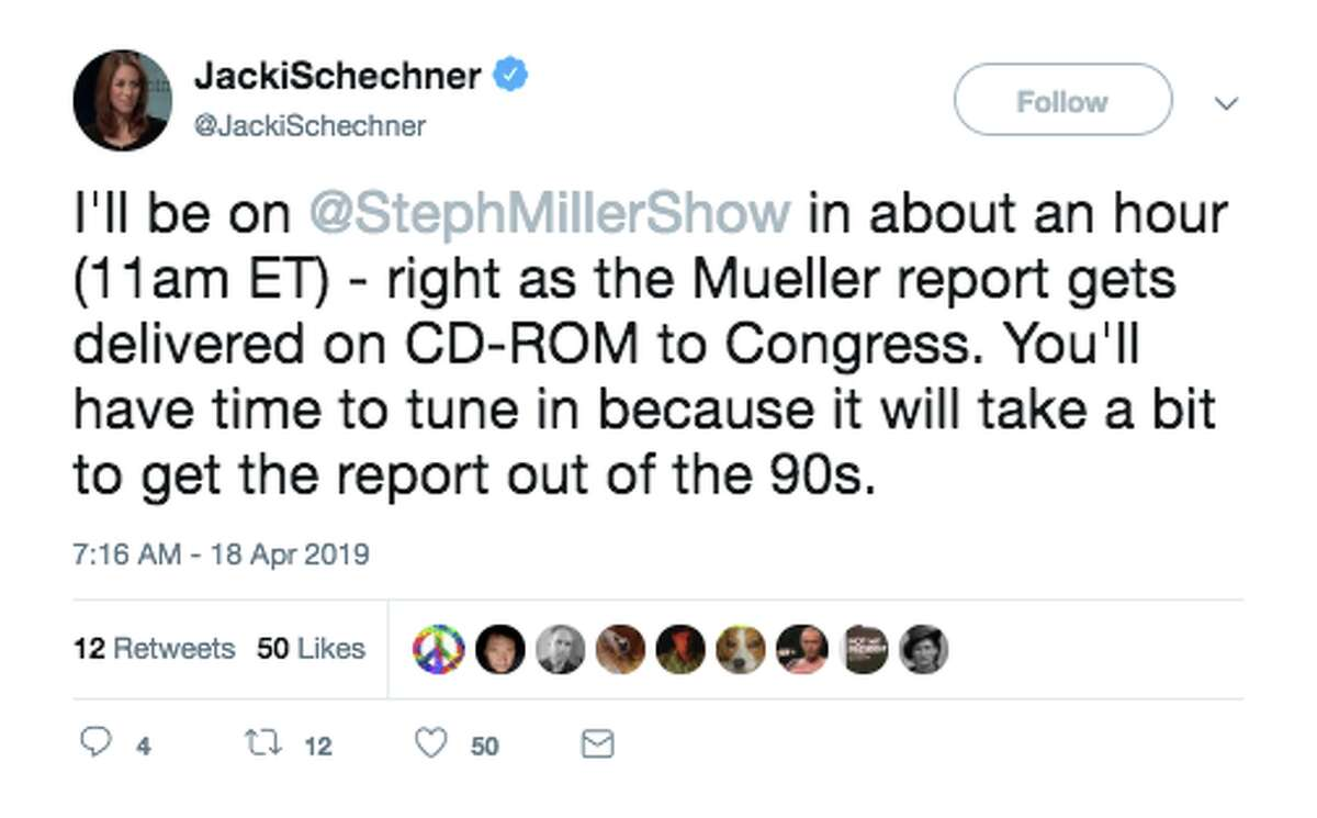 People on social media responded with jokes to the news that the Mueller report would be released via CD-ROM on Thursday, April 18, 2019.