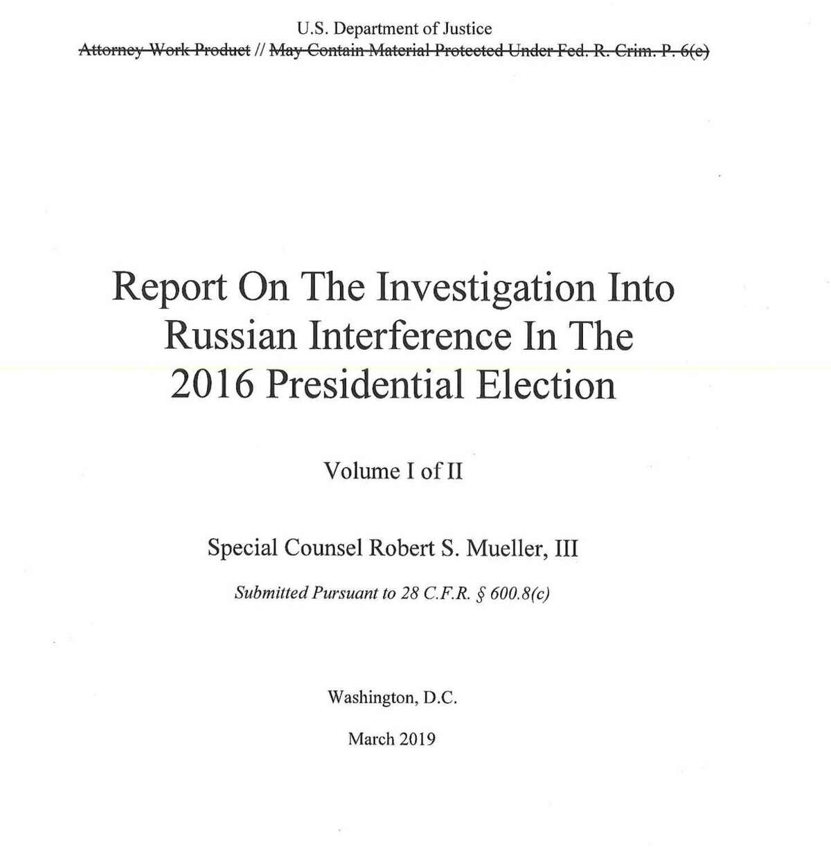 The redacted Mueller report has been released.