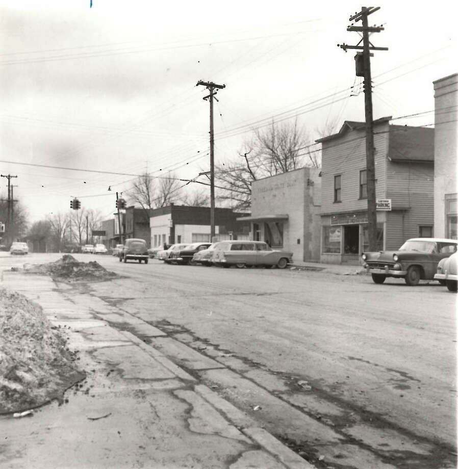 Freeland. Freeland State Bank in center. late 1950s. Photo: Midland Daily News File Photo