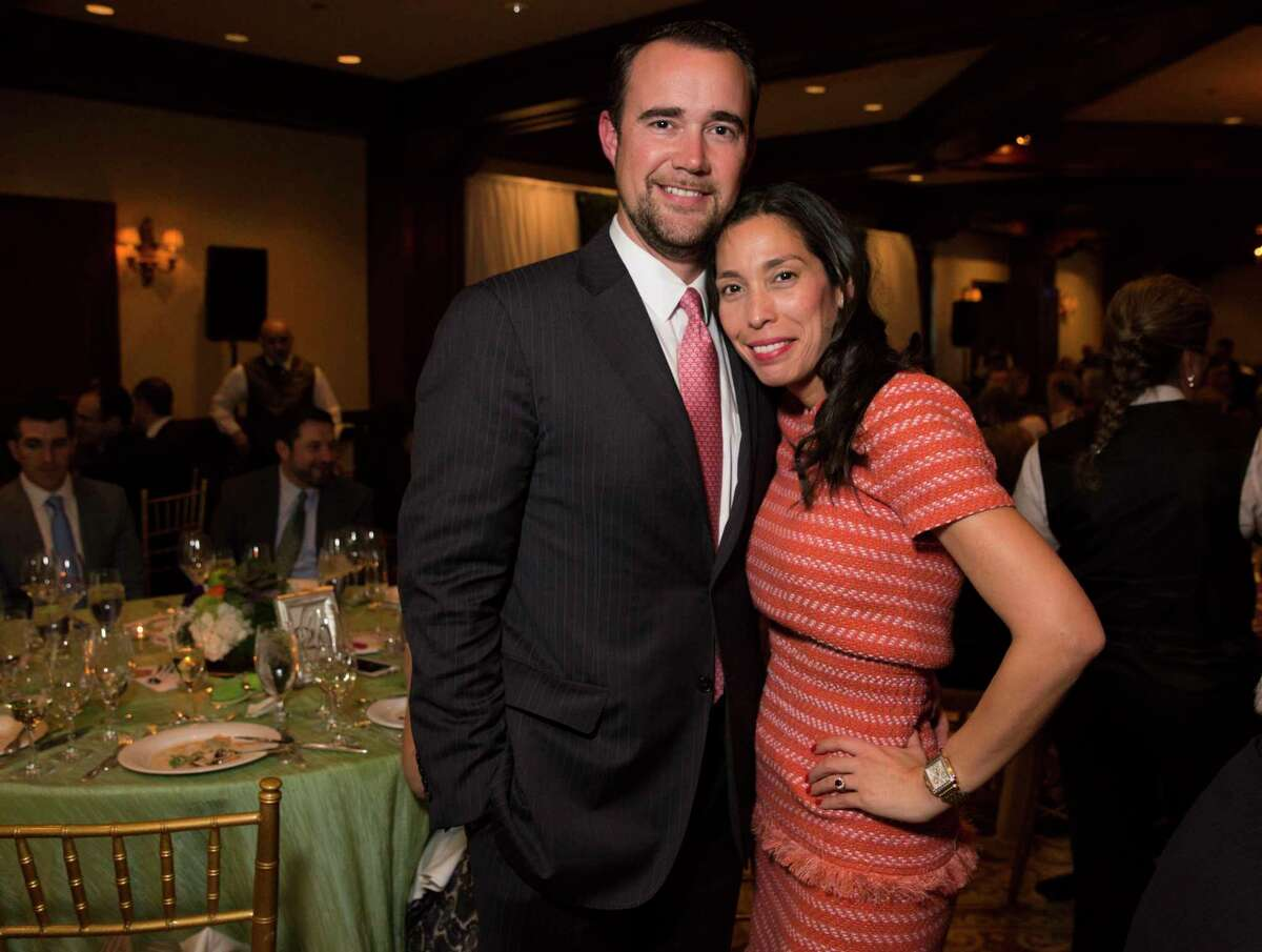Shawn and Wendy Cloonan pose for a photograph at 19th Annual Chef's Dinner at Houstonian Hotel on Wednesday, April 17, 2019, in Houston.