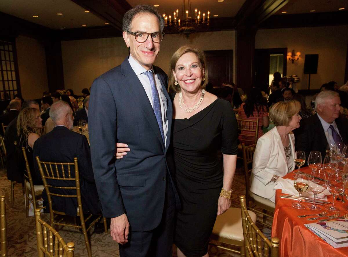 Doe and Henry Florsheim pose for a photograph at 19th Annual Chef's Dinner at Houstonian Hotel on Wednesday, April 17, 2019, in Houston.