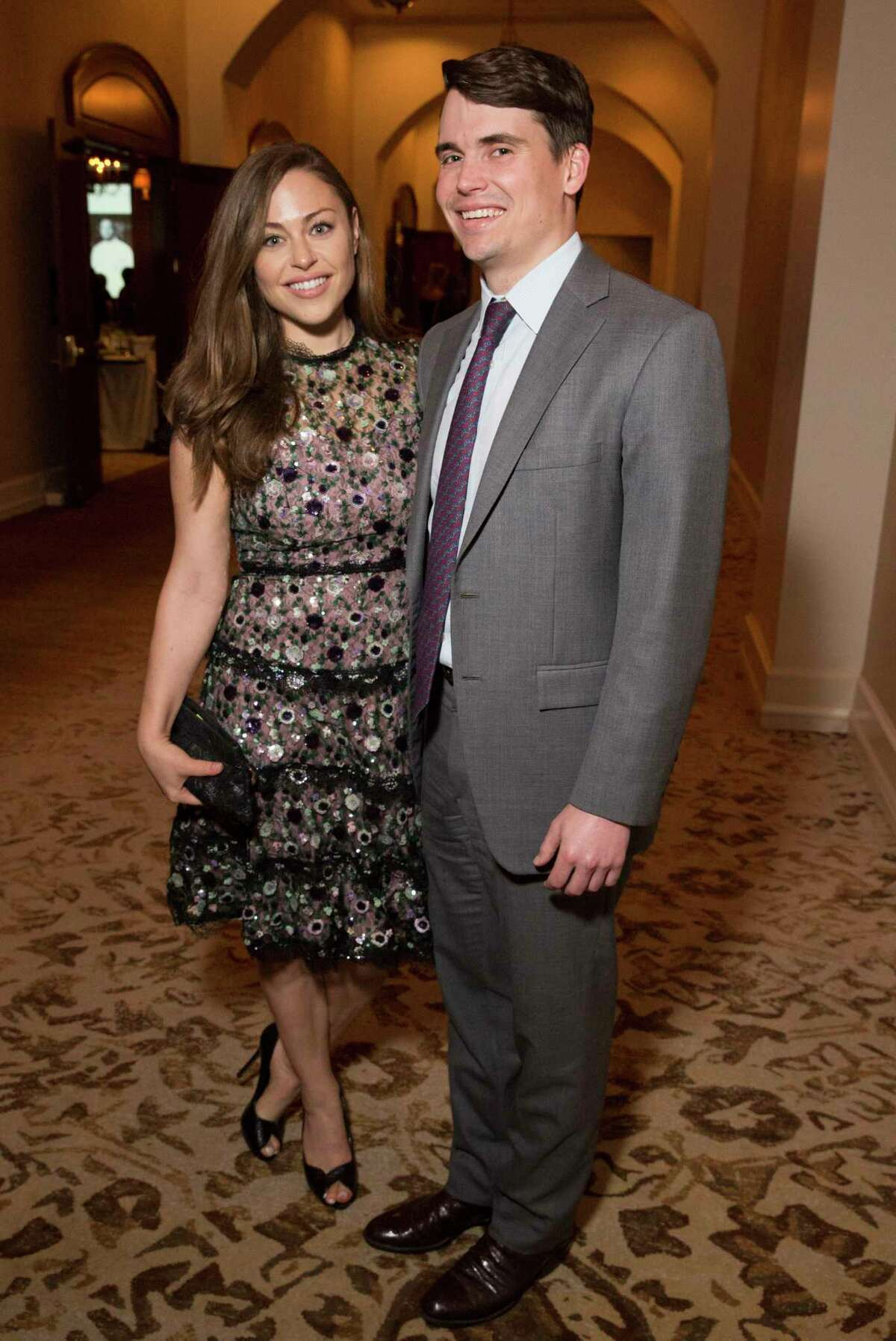 Lexi Sakowitz and Mike Marek pose for a photograph at 19th Annual Chef's Dinner at Houstonian Hotel on Wednesday, April 17, 2019, in Houston.