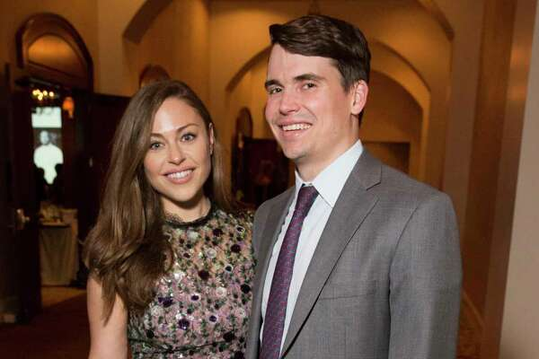 EMBARGOED FOR REPORTER UNTIL FRIDAY APRIL 19 Lexi Sakowitz and Mike Marek pose for a photograph at 19th Annual Chef's Dinner at Houstonian Hotel on Wednesday, April 17, 2019, in Houston.