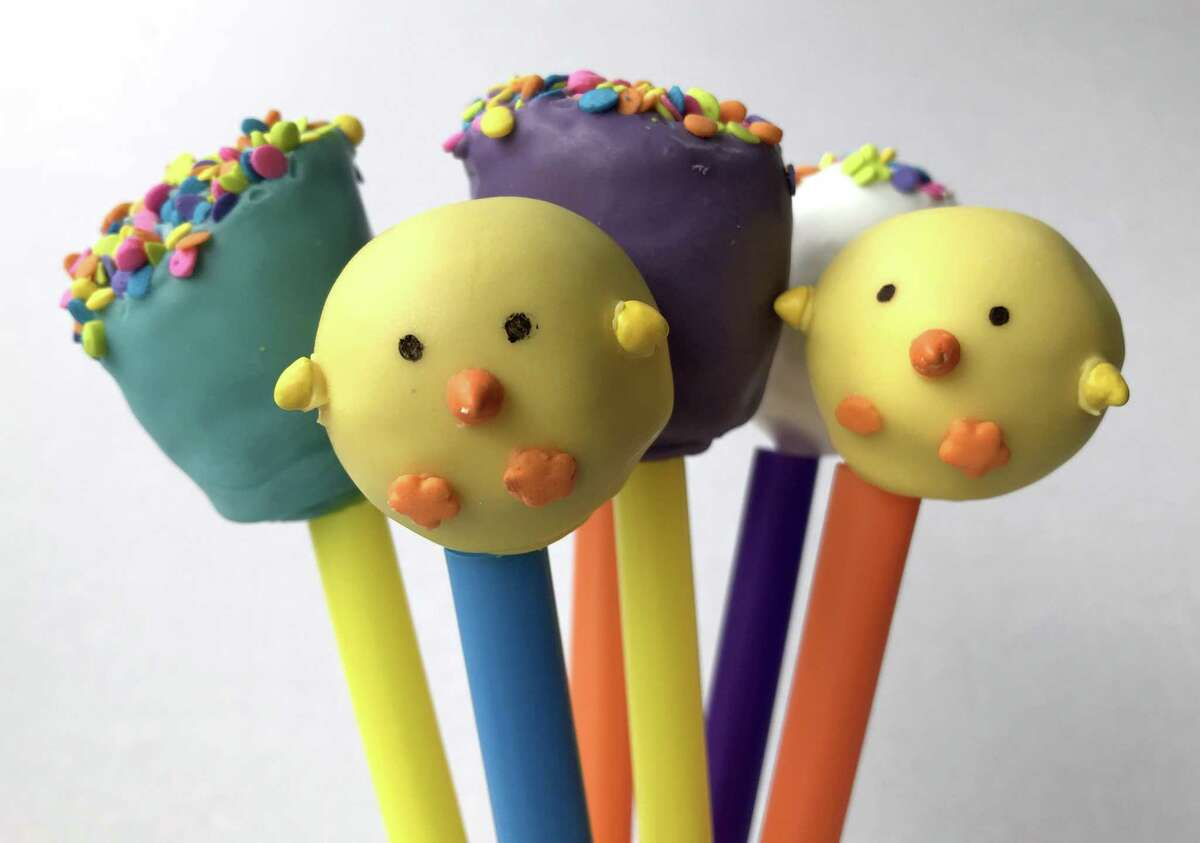 A selection of cake pops from Cosmic Cakery, which located at 150 W. Olmos Drive in Olmos Park.