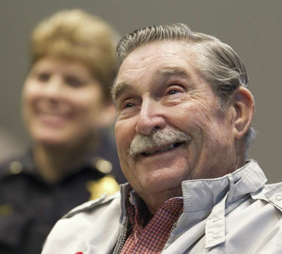 Retired Vietnam Army veteran Patrick 'Pappy' Gray, 80, was awarded the Wright Brothers Master Pilot award, Wednesday, March 6, 2019, in Conroe. The award comes from the Department of Transportation's Federal Aviation Administration recognizes pilots who have demonstrated professionalism, skill, and aviation expertise by maintaining safe operations for more than 50 years. Gray is also mentor in both the Veterans Treatment Court and the VETS Pod at the jail in Montgomery County. Photo: Jason Fochtman, Houston Chronicle / Staff Photographer / © 2019 Houston Chronicle