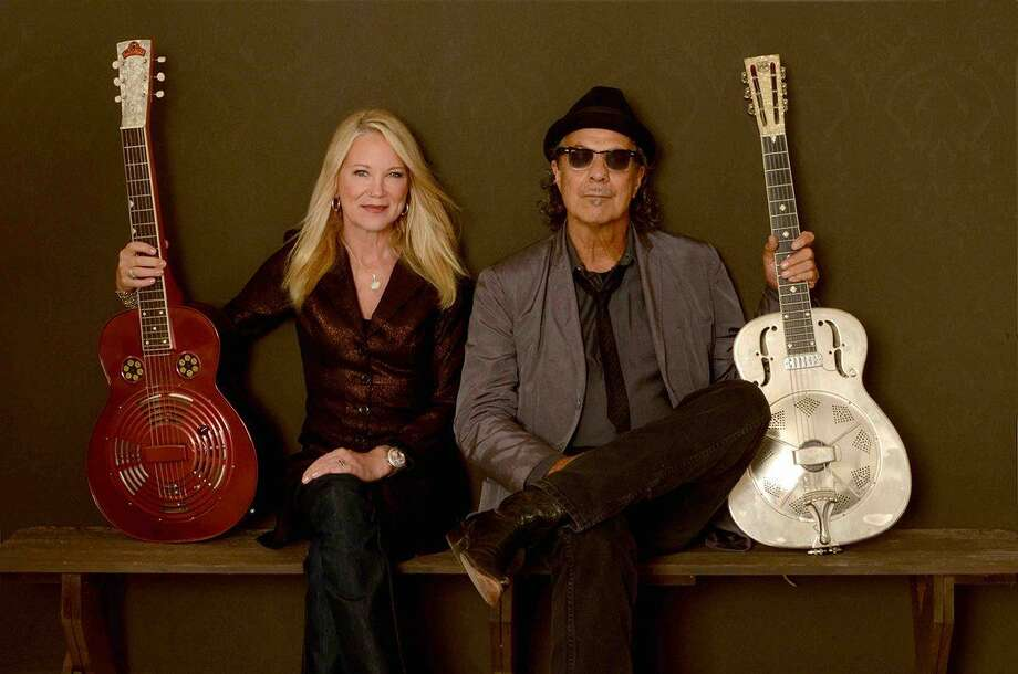 NICHOLAS & CASHDOLLAR: American roots music artists Johnny Nicholas and Cindy Cashdollar will perform at the Katharine Hepburn Cultural Arts Center, aka The Kate, at 8 p.m. Friday, April 26. Tickets ($28) are at thekate.org or 860-510-0453. Photo: Becca Brockway / Contributed Photo