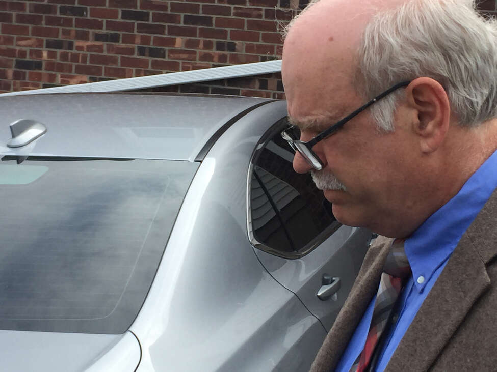 Former state Office of Mental Health official John Allen outside Coeymans Town Court on April 18, 2019.