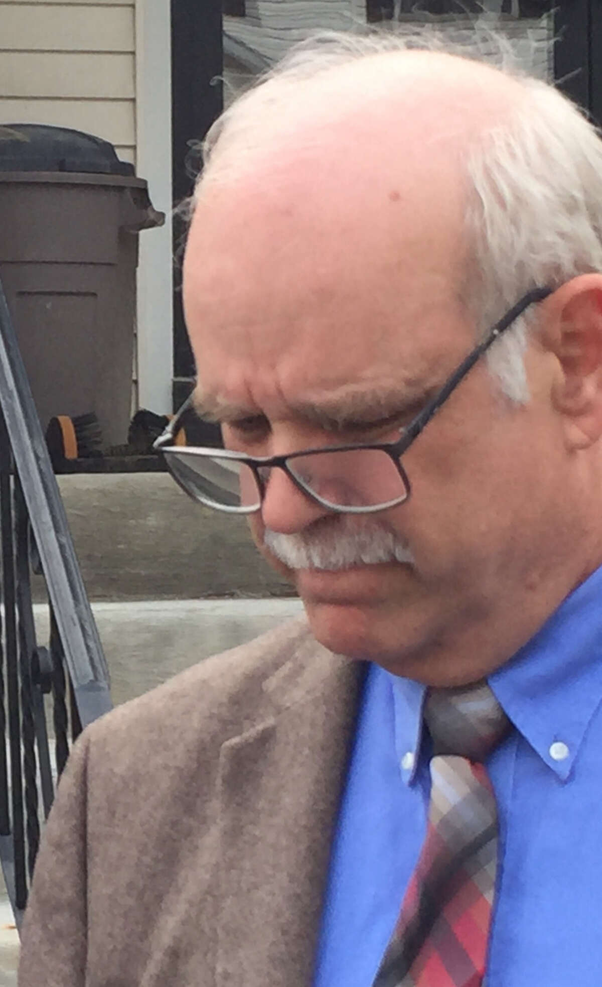 Former state Office of Mental Health official John Allen outside Coeymans Town Court on Thursday, April 18, 2019.