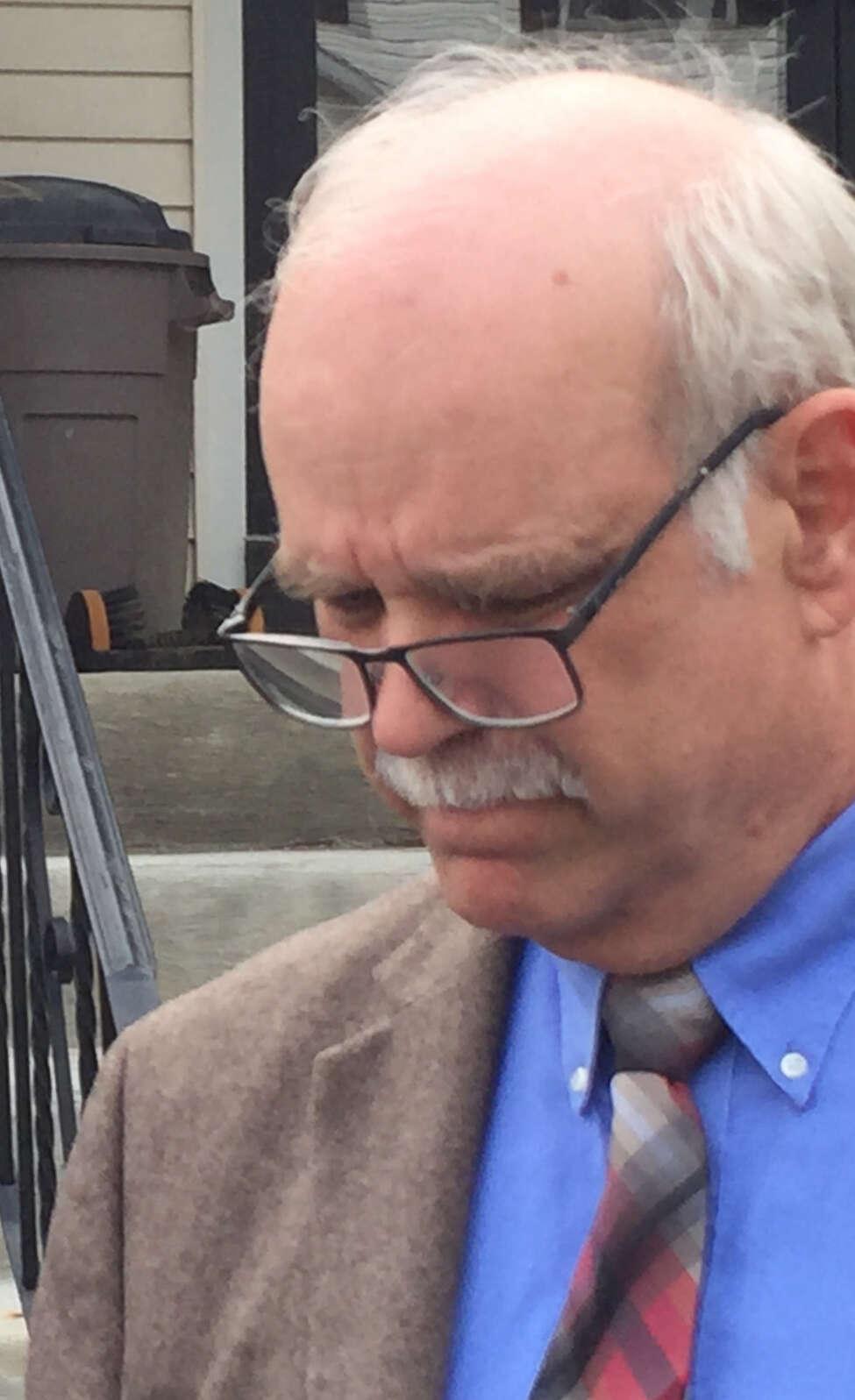 Former state Office of Mental Health official John Allen outside Coeymans Town Court on Thursday, April 18, 2019.