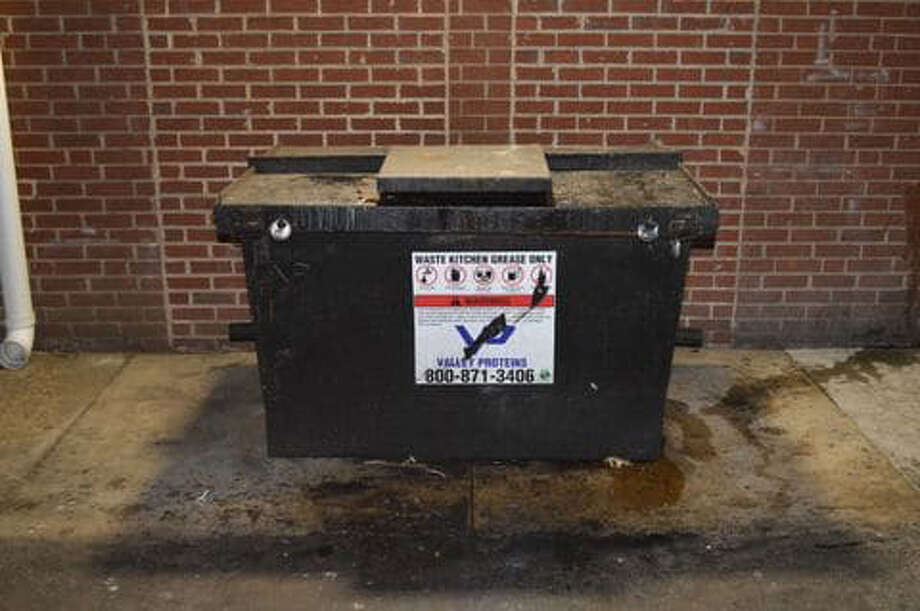 A dumpster that was involved in a grease theft on March 26 in Fairfax County. Photo: Fairfax County Police / Fairfax County Police
