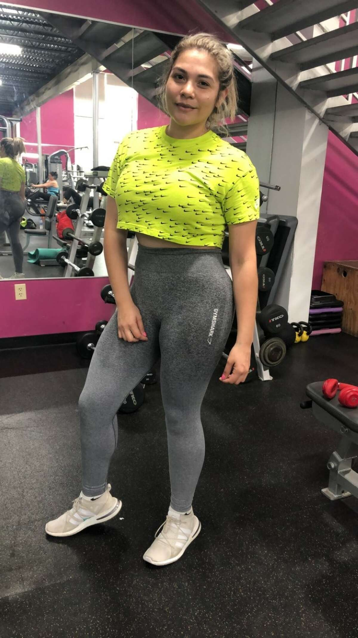 Ana Karen at Rock FitnessApril 16, 2019