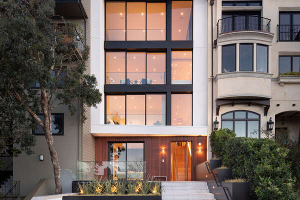 2833 Vallejo St. in Pacific Heights is a six-story contemporary with a refined material palette, landmark views and enticing interior spaces.