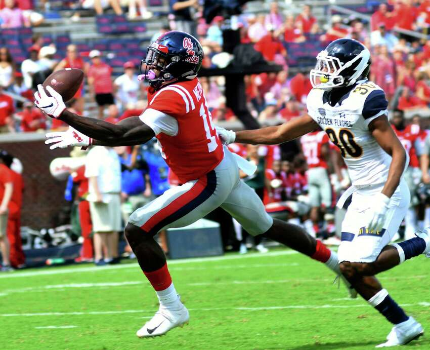 D.K. Metcalf (Ole Miss) Selection: round two, No. 64 overall Position: wide receiver Measurements: 6 feet 3, 228 pounds 2018 stats (7 games): 26 receptions, 569 yards, 5 touchdowns Fit/analysis: Mississippi's internet-famous, sculpted pass catcher somehow fell into the Seahawks' lap on Day 2 of the drat. Seattle was able to trade up to nab him in the late-second round after he unexpectedly tumbled deeper than many expected. With extraordinary size and athleticism, Metcalf could be one of the players we look at many years from now and wonder why he slipped if he lives up to his potential. It goes beyond his three percent body-fat percentage. He could wind up being the premier, big-bodied outside receiver Seattle hasn't had in years. Carroll said last week