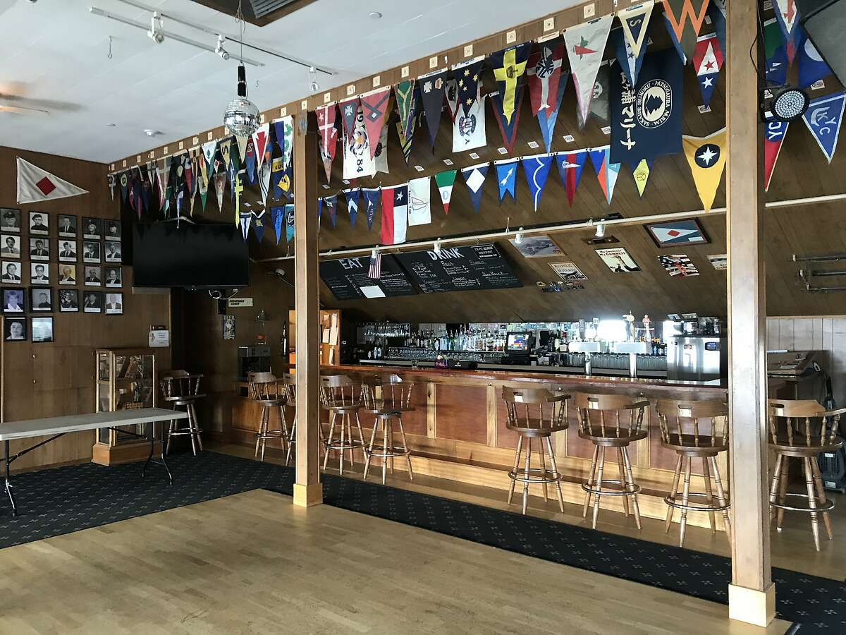 Interior of the bar at the Presidio Yacht Club