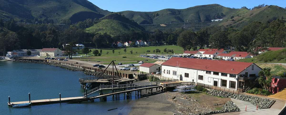 View of the Presidio Yacht Club from the point