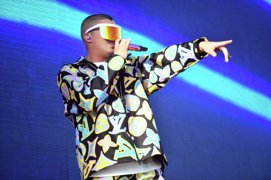 Singer Bad Bunny performs onstage during Weekend 1, Day 3 of the Coachella Valley Music and Arts Festival on April 14 in Indio, Calif. Tickets go on sale April 19 at 10 a.m. for the singer's concert at Bridgeport's Webster Bank Arena Oct. 26. Photo: Scott Dudelson / Getty Images For Coachella / 2019 Scott Dudelson