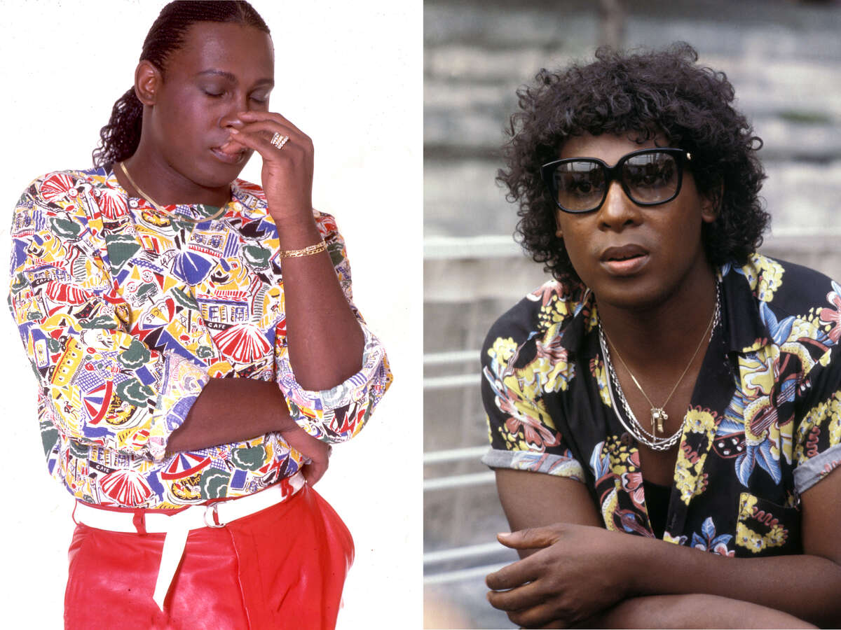 Left: Sylvester James in Paris in June 1979. Right: Sylvester in the 1980s.