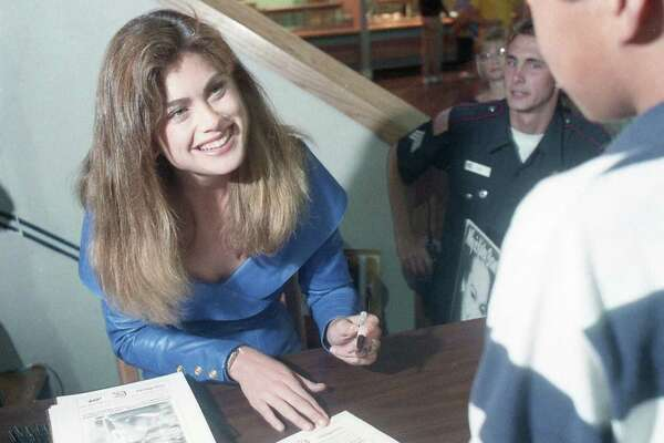 Supermodel Kathy Ireland at Fame City, April 22, 1989.