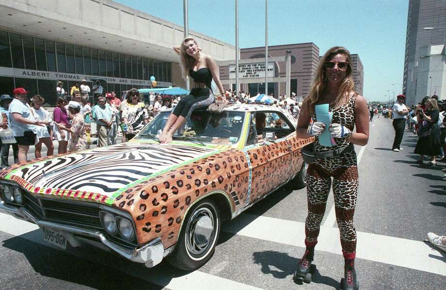 Second-annual art car parade at the Houston International Festival, April 22, 1989. Photo: Betty Tichich, Houston Chronicle