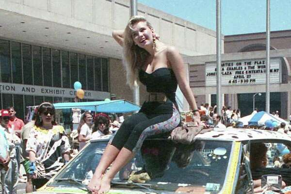 Second-annual art car parade at the Houston International Festival, April 22, 1989.