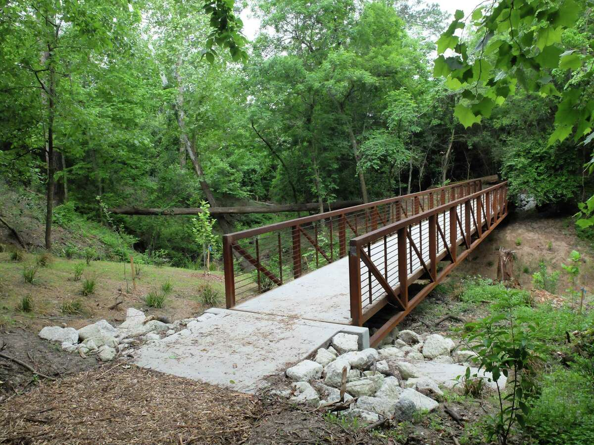 The renovated ravine trail has interesting and surprisingly steep topography.
