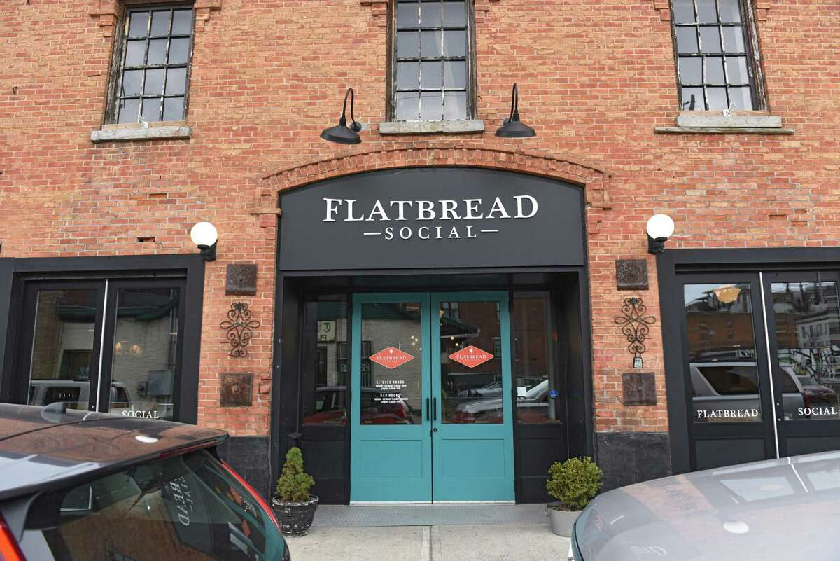 Exterior of Flatbread Social on Thursday, April 11, 2019 in Saratoga Springs, N.Y. (Lori Van Buren/Times Union)