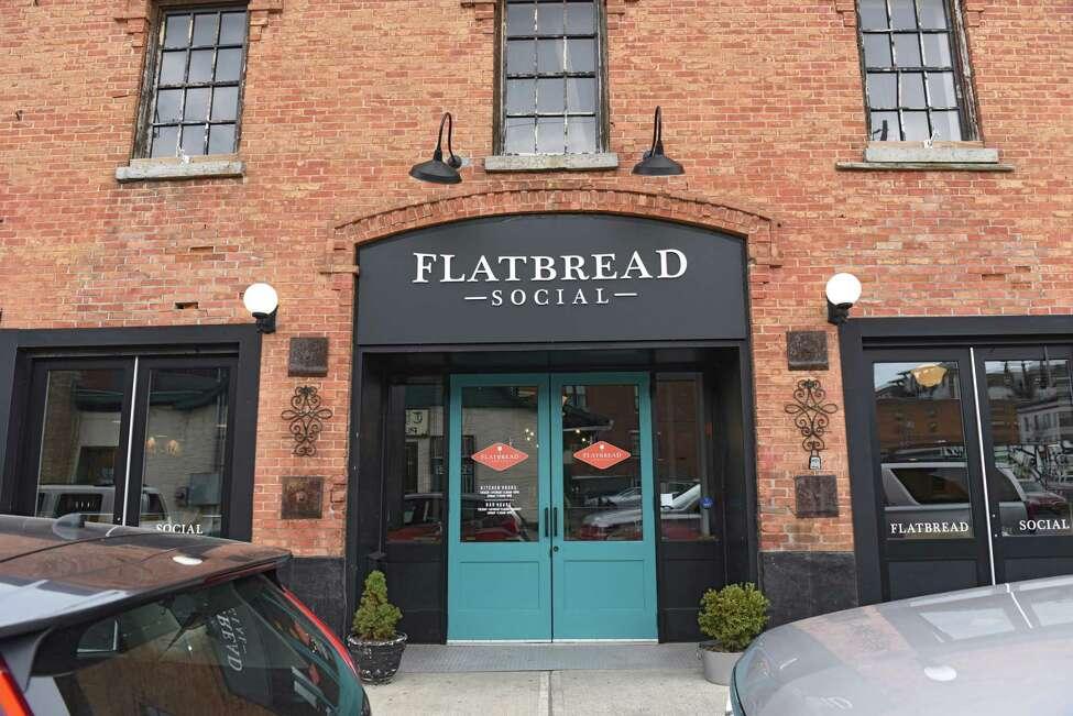 Exterior of Flatbread Social on Thursday, April 11, 2019 in Saratoga Springs, N.Y. (Lori Van Buren/Times Union)