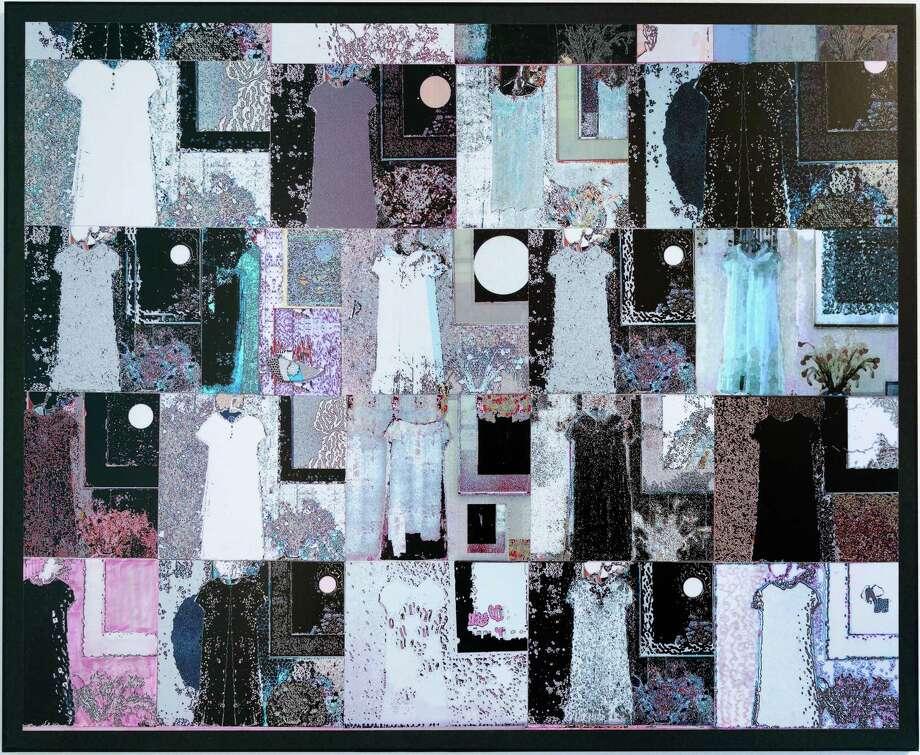 Gail Nadeau, Moon Collage, n.d. Print on vinyl. Photo Wm Jaeger