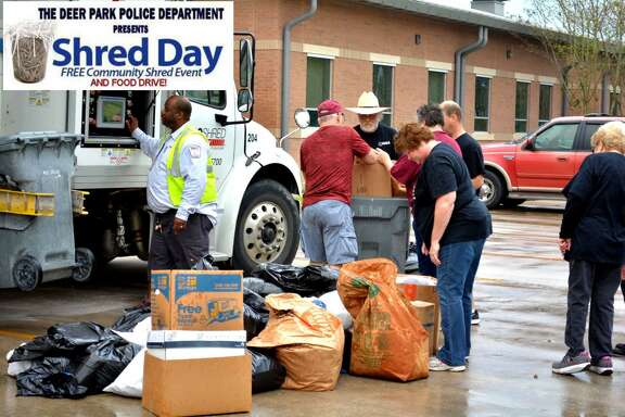On Sat. April 27 from 10 a.m. to 1 p.m., the Deer Park Citizen's Police Academy is hosting a Shred Day. On the same day at the same location, from 10 a.m. to 2 p.m., the Deer Park Police Department will be hosting a National Drug Take Back Day event.