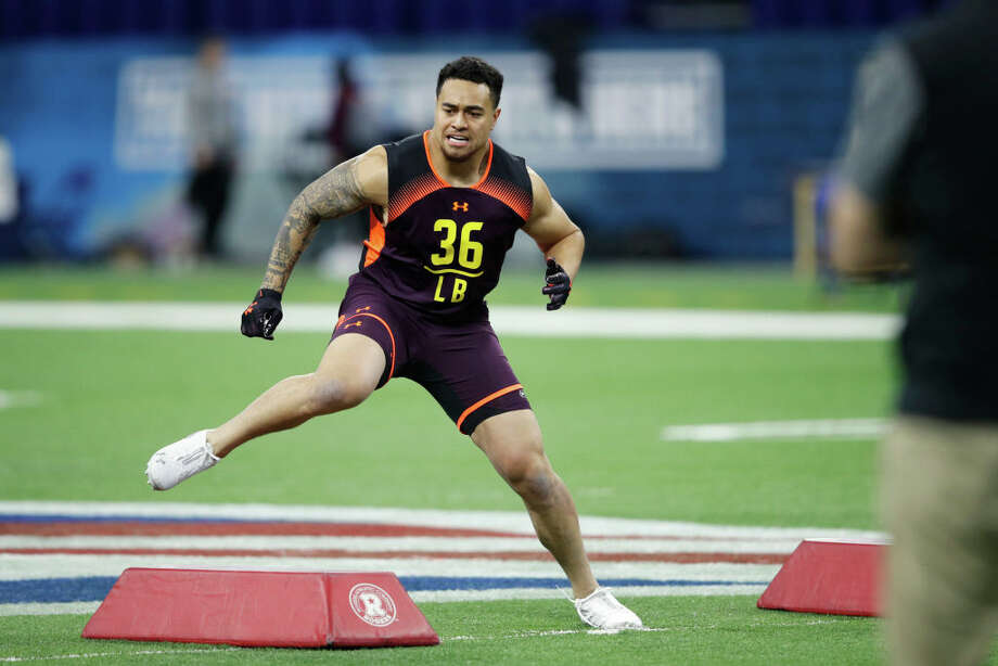 PHOTOS: Houston Texans 2019 schedule  INDIANAPOLIS, IN - MARCH 03: Linebacker Sione Takitaki of BYU in action during day four of the NFL Combine at Lucas Oil Stadium on March 3, 2019 in Indianapolis, Indiana. (Photo by Joe Robbins/Getty Images) >>>Browse through the photos to see the Texans' entire 2019 schedule ...  Photo: Joe Robbins/Getty Images / 2019 Joe Robbins