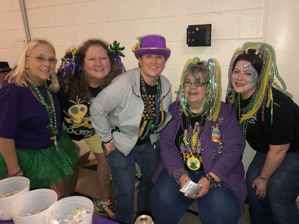 Mardi Gras: Kim Lucas, from left, Kat Wurster, Kellie Wilks, Sandy Lundberg and Kristal Kirkland