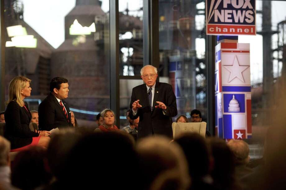 Democratic presidential candidate, Sen. Bernie Sanders participates in a FOX News Town Hall at SteelStacks on April 15, 2019 in Bethlehem, Pennsylvania. Sanders' appearance on Fox was a calculated move to woo Trump voters. Photo: Mark Makela /Getty Images / 2019 Getty Images