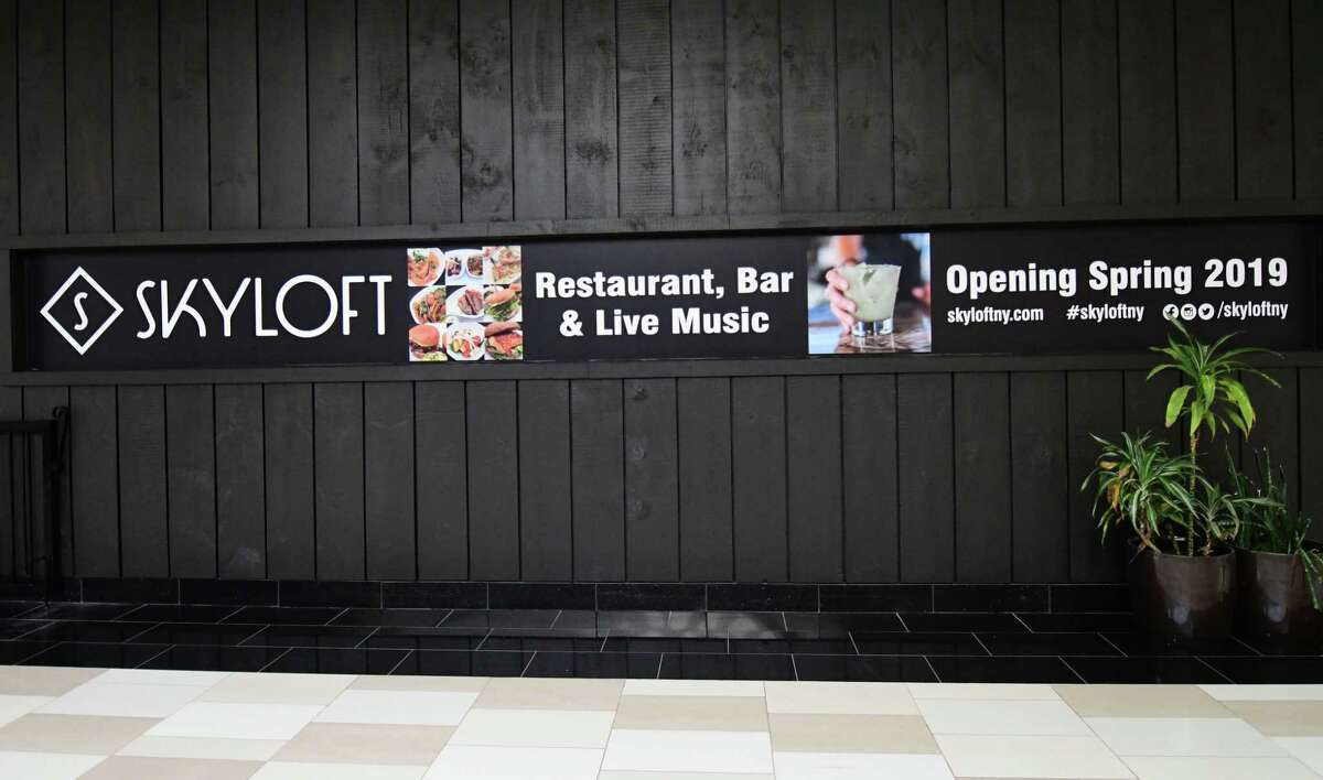 Exterior of the soon-to-be-opened Skyloft, a live music venue with a restaurant at Crossgates Mall on Tuesday, April 16, 2019 in Guilderland, N.Y. (Lori Van Buren/Times Union)