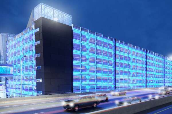 An image of the new design of the proposed Stamford Train Station garage.
