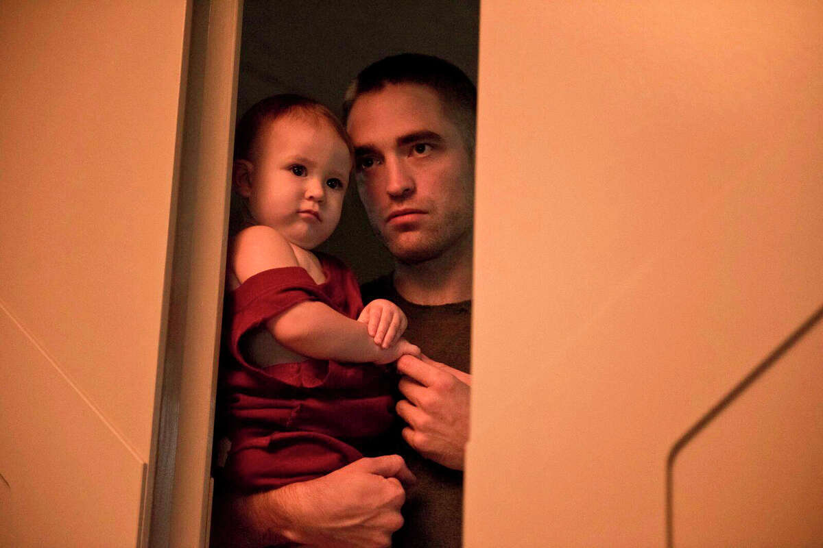 This image released by A24 Films shows Robert Pattinson in a scene from