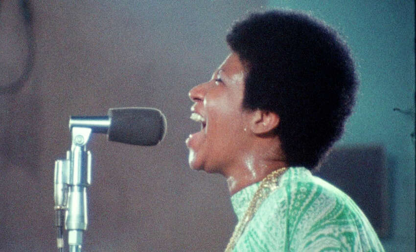 This image released by Neon shows Aretha Franklin in a scene from the film,